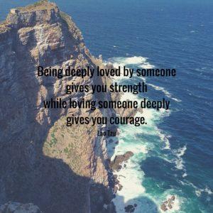 Lao Tzu Quote Loving Courage