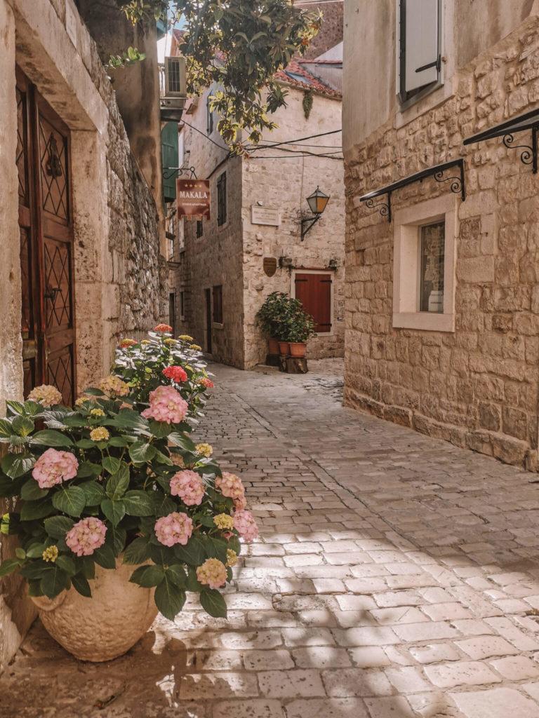Straßen in Trogir